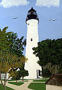 Florida Lighthouse Artwork - Key West Lighthouse by Frederic Kohli