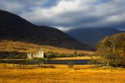 Autumn Scenes Metal Prints - Kilchurn Castle, Loch Awe, Scotland Metal Print by John Short