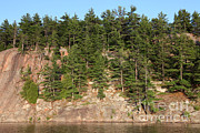 Granite Bedrock Photos - Killarney Provincial Park by Ted Kinsman