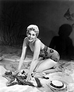 Bathing Suit Prints - Kim Novak, 1954 Print by Everett