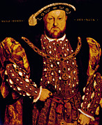 Younger Framed Prints - King Henry Viii 1491-1547, King Framed Print by Everett