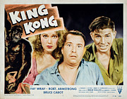 Lobbycard Photo Framed Prints - King Kong, Fay Wray, Robert Armstrong Framed Print by Everett
