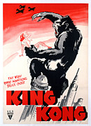 1933 Movies Prints - King Kong, Poster Art, 1933 Print by Everett