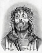 Christ Drawings - King of Kings by Murphy Elliott