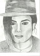 Mj Drawings - King of Pop by Gary Miller