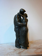 Love Sculpture Prints - Kiss Print by Nikola Litchkov
