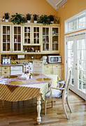 Kitchen Cabinets And Table Print by Andersen Ross