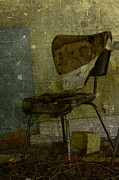 Cards Vintage Metal Prints - Kitchen Chair Metal Print by Larysa Luciw