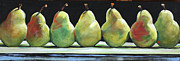 Pear Painting Acrylic Prints - Kitchen Pears Acrylic Print by Toni Grote