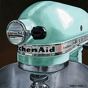 Photorealism Painting Posters - KitchenAid Poster by Rob De Vries