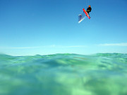 Surfing Photo Prints - Kitesurfing Print by Stylianos Kleanthous