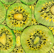 Kiwis Prints - Kiwi Fruit Print by Sandra Cox