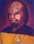 Space Pastels Prints - Klingon Star Trek Print by Anastasis  Anastasi
