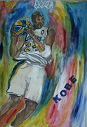 Kobe Paintings - Kobe by Wayne LE ONE