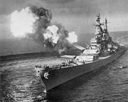 Battleship Photos - Korean War, 1950 by Granger