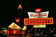 Doughnuts Photo Prints - Krispy Kreme Doughnuts Atlanta  Print by Corky Willis Atlanta Photography
