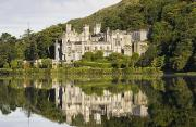 Hillsides Photos - Kylemore Abbey, County Galway, Ireland by Peter McCabe
