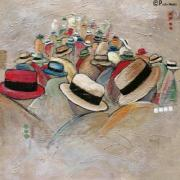 Chapeaux Paintings - La Gallerie by Patty Meotti