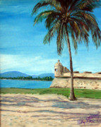 Puerto Rico Painting Metal Prints - La Garita Metal Print by Gladiola Sotomayor