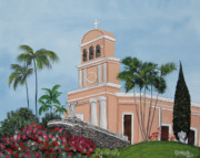 Puerto Rico Paintings - La Monserrate by Gloria E Barreto-Rodriguez