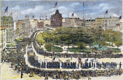 Union Square Metal Prints - Labor Day Parade, 1882 Metal Print by Granger