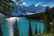 Turquoise Mountain Lake Prints - Lac Moraine Print by Frank Wicker