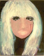 Lady Gaga Painting Prints - Lady GaGa Print by Marie Bulger