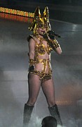 Lady Gaga Photo Prints - Lady Gaga On Stage For Lady Gaga Live Print by Everett