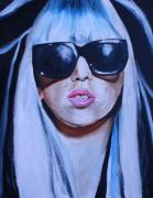 Lady Gaga Portraits Paintings - Lady Gaga Portrait by Mikayla Henderson