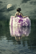 Mirror Reflection Prints - Lady In The Lake Print by Joana Kruse