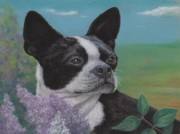 Terriers Pastels - Lady in the Lilacs by Pamela Humbargar