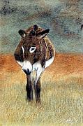 Donkey Pastels Prints - Lady In Waiting Print by Jan Amiss