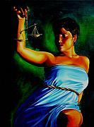 Student Painting Framed Prints - Lady Justice Framed Print by Laura Pierre-Louis