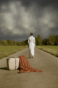 Luggage Art - Lady On The Road by Joana Kruse