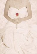 Rose Flower Photos - Lady with a Rose by Joana Kruse