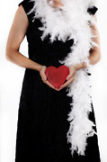 Evening Dress Metal Prints - Lady With Heart Metal Print by Joana Kruse