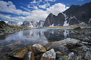 Alberta Rocky Mountains Prints - Lake Agnes Print by Bernard Chen