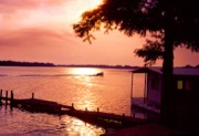 Arkansas Metal Prints - Lake Chicot Sunset Metal Print by John Foote
