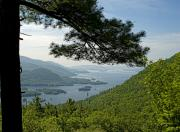 """adirondack Park""  Photo Posters - Lake George from the Tongue Mountain Range New York  Poster by Brendan Reals"