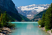 Canadian Rockies Prints - Lake Louise Print by Mike Horvath