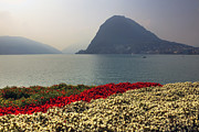 Haze Photo Framed Prints - Lake Lugano - Monte Salvatore Framed Print by Joana Kruse