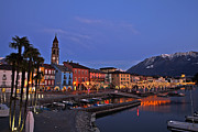 Christmas Lights Framed Prints - Lake Maggiore - Ascona Framed Print by Joana Kruse