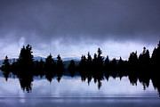 Mountain Reflection Lake Summit Mirror Prints - Lake reflection Print by Odon Czintos