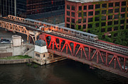 Chicago River Prints - Lake Street Crossing Chicago River Print by Steve Gadomski
