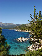 Lake Framed Prints - Lake Tahoe Shoreline Framed Print by Scott McGuire