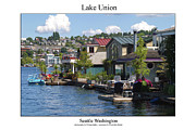 Space Needle Photographs Prints - Lake Union Print by William Jones