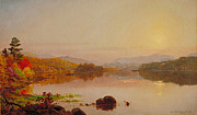 Tranquil Paintings - Lake Wawayanda by Jasper Francis Cropsey