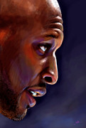 Lakers Digital Art - Lamar by Jack Perkins