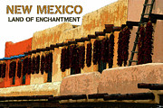 Adobe Architecture Prints - Land Of Enchantment Print by David Lee Thompson