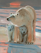 Cubs Painting Originals - Land of the Midnight Sun by Donald Maier